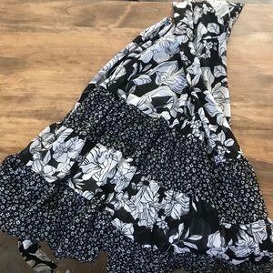 Fashion bug floral fit n flare dress sz 8